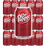 Dr Pepper Soda Cans, 12oz Can (Pack of 15, Total of 180 Oz)