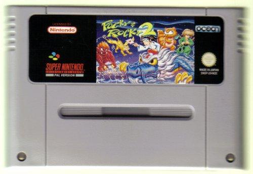SNES Spiel: Pocky & Rocky 2 NUR DAS EINZELNE SPIEL-MODUL (für SNES Super Nintendo, PAL, deutsch)