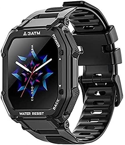 LLM Nuevo C16 1.7 pulgadas 3ATM 30 M impermeable deporte reloj inteligente fitness Tracker natación buceo relojes para Android IOS (B)