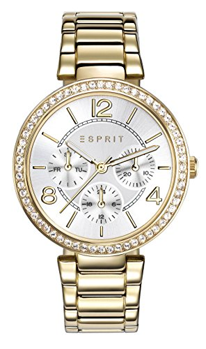 Esprit Damen Multi Zifferblatt Quarz Uhr mit Edelstahl Armband ES108982002
