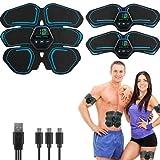 Shapewear Electroestimulador Estimulador Muscular Abdominales, USB Recargable Masajeador Cinturón para Abdomen/Cintura/Pierna/Brazo 10 Modos de Simulación,20 Niveles Diferentes