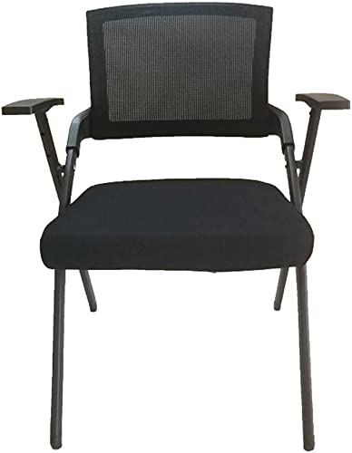 Lxynb Pliant Chaise de Bureau avec Rouleau,Métal Chaise Pliante avec accoudoirs,Confortable Coussin éponge Dossier Haut Ergonomique-noir-A 51  57  83cm(20  22  33in)