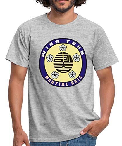 Wing Tsun - Martial Arts Männer T-Shirt, XL, Grau meliert