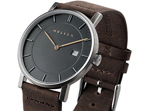 Meller Unisex Erwachsene Analog Quarz Uhr mit Leder Armband 1G-1BROWN
