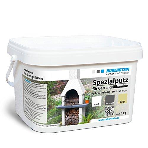 Ruberstein®Spezialputz für Gartengrillkamine, 8kg, anthrazit, direkt vom Hersteller
