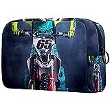 Neceser portátil, ligero, clásico, bolsa de cosméticos de viaje y bolsa de maquillaje, kit de artículos de tocador organizador con cremallera Motocross 21