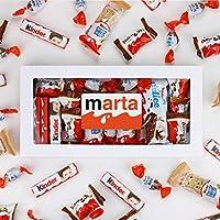 Caja Kinder Personalizada con nombre Kinder Delice Kinder Schokobons Kinder Happy Hippo Kinder Bueno Mini Kinder Chocolate