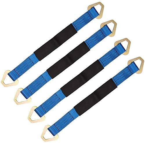 5 cm x 60 cm 2 x 24 pulgadas 4 paquetes Correas de eje ajustables universales Remolcadores de remolque automotriz Remolques de remolque para Demco Kar Kaddy Dollys