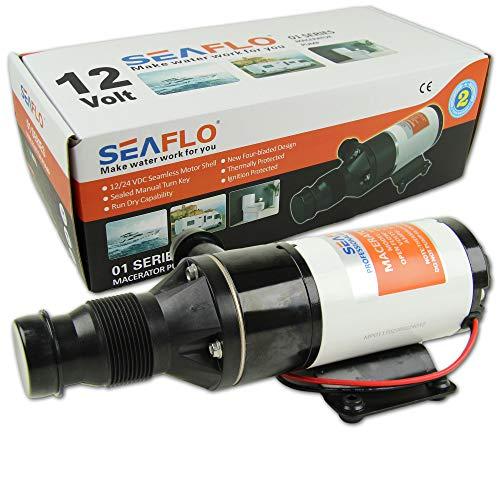 Boote & Yachten Kantschuster SEAFLO ® Zerhackerpumpe 12 V Macerator Pumpe 45 L/min