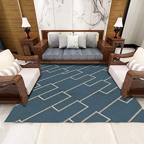 QWEASDZX Nordic Simple Carpet Living Room Coffee Table Blanket Bedroom Bedside Blanket Thick Carpet Living Room Carpet 160x230cm