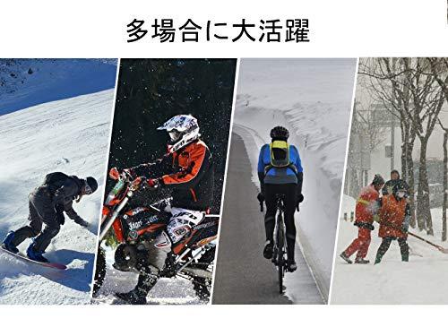 ROCKBROS(ロックブロス)冬用ネックウォーマーバラクラバ裏起毛保温息苦しくない目出し帽スキーサイクリングバイクメンズ(ブラック)