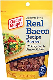 Oscar Mayer Ready to Serve Real Bacon Recipe Pieces (2.8 oz Packages, Pack of 6)