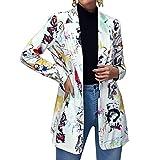 ORANDESIGNE Donna Blazer Basic Colletto Rivolto Tinta Unita Elegante Ufficio Business Tail...