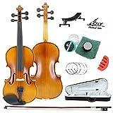 TLY バイオリン 学生用 アコースティック プロフェッショナル 手作り 木製の衣装初心者パック (4/4フルサイズ)