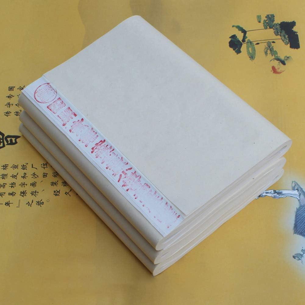 100 piezas de pintura china caligraf/ía pintura mitad papel de arroz papeler/ía blanco 46 x 70 cm newhashiqi Xuan Paper