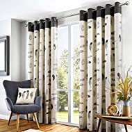 """Fusion - Idaho - 100% Cotton Ready Made Eyelet Curtains - 46"""" Width x 54"""" Drop (117 x 137cm) in Char..."""