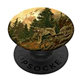 Wolf Wolves Animal Wild Wolves Forest Gift PopSockets PopGrip: Swappable Grip for Phones & Tablets