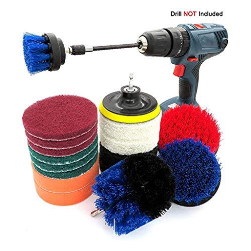 Kengsiren Bohrer Bürste 18 Teilige Elektrische Wäscher; Küche Reinigungs, Reinigungsbürste Für Haushaltsbadezimmerboden Entstaubung