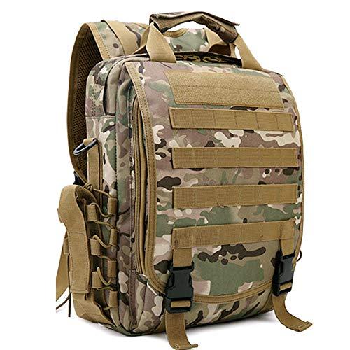 戦術的な迷彩バックパック、運ぶための十分なスペース、オックスフォード防水生地、引っ張り耐性、べと病耐性、スポーツに使用、レジャー、旅行
