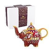 Artvigor Teiere Caffettiere Caraffe per tè e caffè in Porcellana Ceramica Elefante Set da caffè...