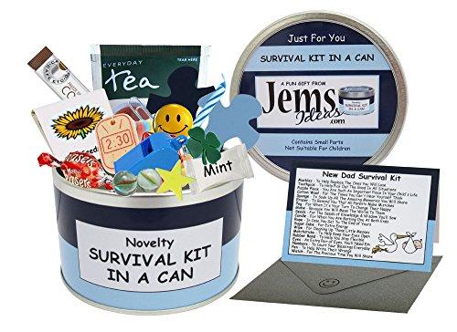Kit de supervivencia en una lata para padres, «Dad To Be»Regalo divertido e innovador para un nuevo papá.Perfecto para fiestas baby shower, por ejemplo.-, Blue/Navy, Approx 10cm x 6cm