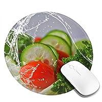 フード写真 マウスパッド 丸型 20cm 滑り止め 防水 おしゃれ 洗える ビジネス用 家庭用 ゲーム用