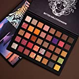 40 Color Natural Shimmer Matte Glitter Eyeshadow Palette Press smooth Powder eye makeup Blendable Long Lasting Highly Pigment Eye Shadow