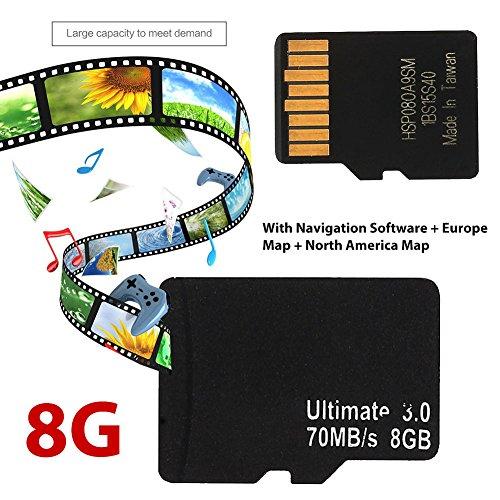 Sedeta® Carta di Carta di Carta di 8G TF GPS dell'automobile di Dispositivo dell'automobile di Sistema 800 * 480 Sh + GPS dell'UE Europa Wince
