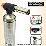 Zapp Compact Blow Torch EN417 Threaded Connector with Adjustable Flame for Soldering, DIY, Kitchen, Crème, Brulee, Pastries, Desserts, Baking, Cooking, Welding, Camping BBQ, Weed Burner