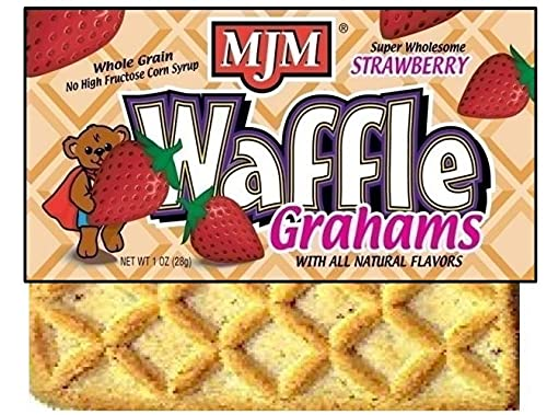 Commercial Food Systems - MJM Strawberry Waffle Grahams - Case of 300 count Two-Graham Servings