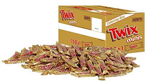 Twix Schokoriegel | Minis, Keks | 150 Riegel in einer Box (150 x 20 g = 1 x 3 kg)