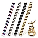 Toy Pen, Decompression Magnetic Metal Pen, Multifunction Writing Magnet Ballpoint Pen, Gift for Kids or Friends (Sliver)
