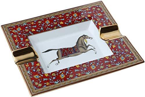 Wlnnes Cenicero grande nórdico para cigarros, cigarrillos de cigarrillo de cigarros de cerámica de caballo creativo para hombres al aire libre, escritorio de escritorio para fumar cenicero/bandeja d