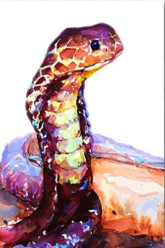 ABcvuz Rompecabezas 1000 Piezas/Acuarela Abstracta Serpiente Animal/Juego Intelectual Juego Educativo para Adultos niños decoración del hogar Rompecabezas(50x75cm)