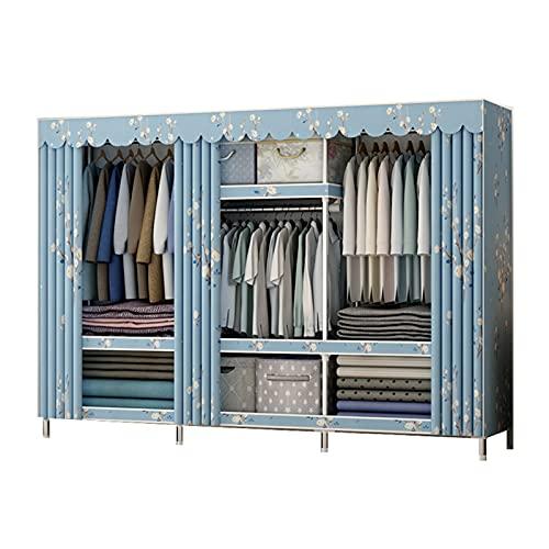 JIAO PAI Armadio in metallo, Creativity Open Wardrobe Organizer multifunzione per camera da letto, guardaroba, divisione casa, armadio aperto (dimensioni: 172 x 45 x 180 cm, colore: C)
