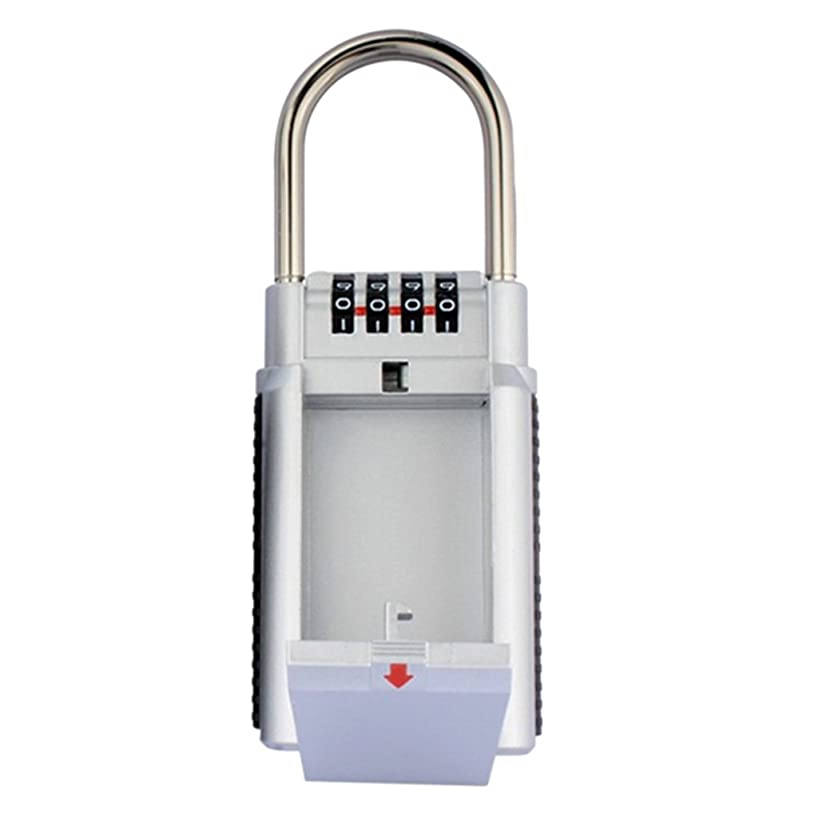 Jili Online Outdoor High Security Wall Mounted Key Safe Box Secure Lock Combination - Silver