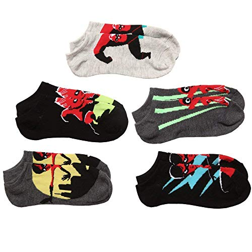 Disney The Incredibles 2 Movie 5 Pack (5 Pair) No Show Socks