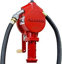 Fill-Rite FR112 Rotary Vane Hand Pump with Discharge Hose, Nozzle Spout, and Suction Pipe (Renewed)