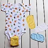 Extensor de traje de body, 4 piezas, universal, suave, para bebés, niños y niñas, ropa de bebé para alargar la vida útil blanco blanco