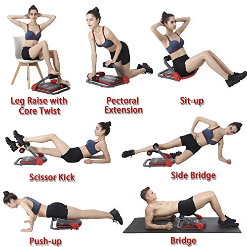 Product Image 5: eHUPOO Ab Machine Abs Workout Equipment, Abs and Whole Body Exercise Equipment for Home Workouts,Core Strength Training&Abdominal Exercise Trainers With Resistance Bands for Home Gym.USA Patented