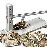 EUNEWR Oyster Shucker, Herramienta de ostras extraíble portátil de Acero Inoxidable, abridor de ostras Resistente de Grado Comercial Especial, para el Mercado/Restaurante de mariscos