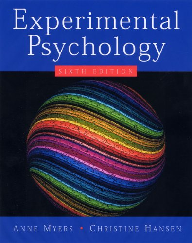 Experimental Psychology (Available Titles CengageNOW)