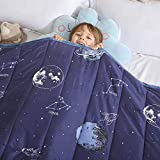 Haowaner Minky Kids Weighted Blanket 10lbs 41 x 60 inches, Soft Kids and Toddler Comforter Great for Calming and Sleeping, Child Bed Size, Blue Earth