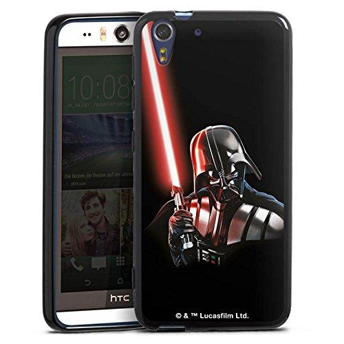 Silikon Hülle kompatibel mit HTC Desire Eye Hülle schwarz Handyhülle Fanartikel Star Wars Darth Vader