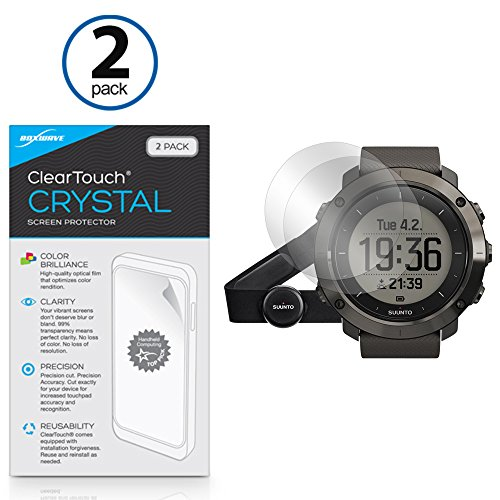 Suunto Traverse Screen Protector, BoxWave [ClearTouch Crystal (2-Pack)] HD Film Skin - Shields from Scratches for Suunto Traverse