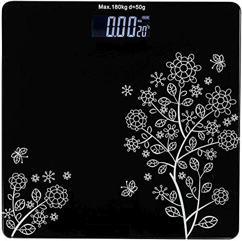 CRITEX MART Thick Tempered Glass & LCD Display Square Electronic Digital Personal Bathroom Health Body Weight Weighing Scale, weight scale digital, weight machine for human body,Digital scale