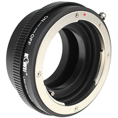 Quenox LMA-M42de NK (g) _ M4/3–Anillo adaptador de montura con apertura para objetivo Nikon F a Micro Cuatro Tercios Cámara (MFT)–Por ejemplo, para Olympus OM-D EM de 10(Mark I + II) EM de 5(Mark I + II) E-PL7EP de PL6E-PL5Panasonic Lumix GH4GH3gf7GF6GF5GX7GX8GM5etc. (Made by KIWIfotos)