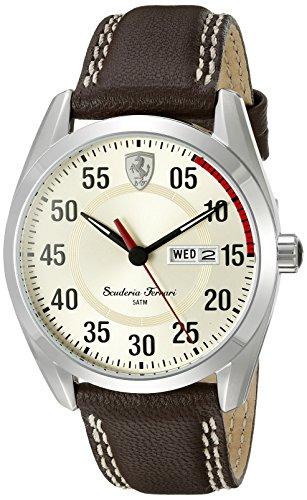 Price comparison product image Ferrari Men's 0830175 D 50 Analog Display Quartz Brown Watch