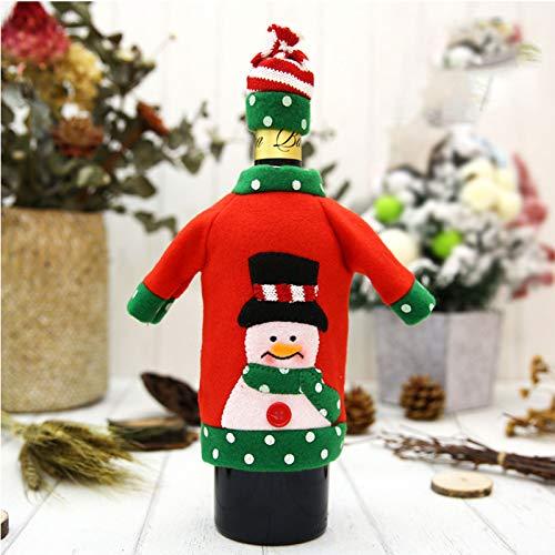 HOMEJYMADE Maglia Lana Creativo Vino Bottiglia Impostare La Decorazione Natalizia Ristorante Natale Natale Natale Decorazione per Home-A1 2pc