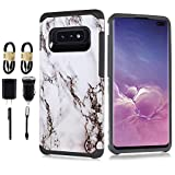 Designed for Galaxy S10e Case 2019, 6goodeals Impact Gel Cushion Heavy Duty Cover for Samsung Galaxy S 10e (2019) [Accessory Pack] (White)